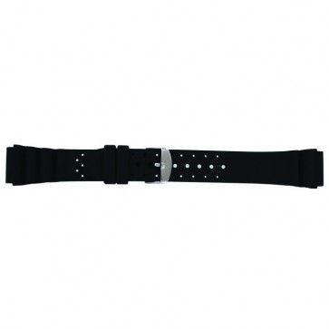 Uhrenarmband SL100 Silikon Schwarz 18mm