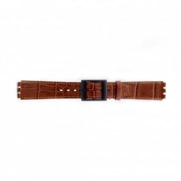 Swatch Uhrenarmband Kroko braun 16mm PVK-SC16.03