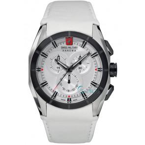 Uhrenarmband Swiss Military Hanowa 06-4191.33.001 Leder Weiss