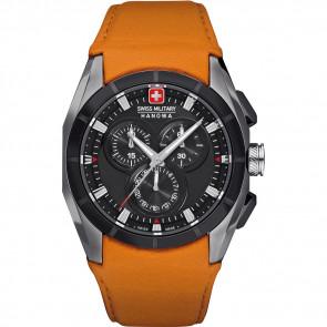 Uhrenarmband Swiss Military Hanowa 06-4191.33.007.79 Leder Orange