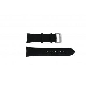 Swiss Military Hanowa Uhrenarmband 06-4278.04.001.07 Leder Schwarz + schwarzen nähte