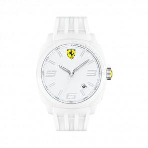 Ferrari Uhrenarmband SF113.1 / 0830113 / SF689300066 / Scuderia Kautschuk Weiss 24mm