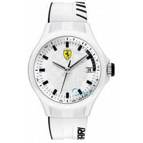 Ferrari Uhrenarmband SF101.6 / 0830124 / SF689300071 / Scuderia Silikon Weiss 22mm