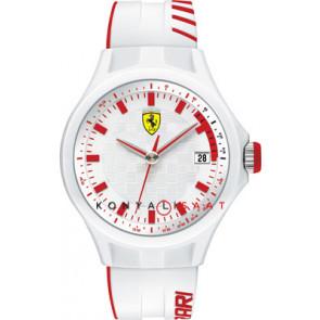 Ferrari Uhrenarmband SF101.6 / 0830127 / SF689300079 / Scuderia Kautschuk Weiss 22mm