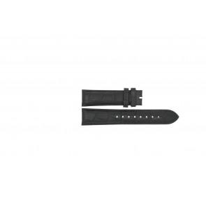 Esprit Uhrenarmband ES103342006 Leder Schwarz 20mm + schwarzen nähte