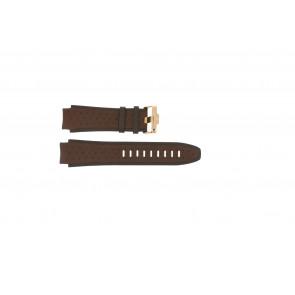 Uhrenarmband Jacques Lemans 1378E Leder Braun 20mm