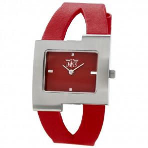 Uhrenarmband Davis BB1404 Leder Rot 10mm