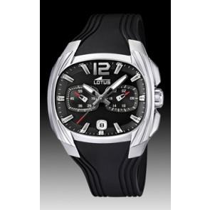 Lotus Uhrenarmband L15756 Kautschuk Schwarz 22mm