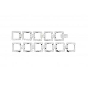 Lacoste Uhrenarmband 2000490 / LC-05-3-18-0161 Metall Silber 13mm