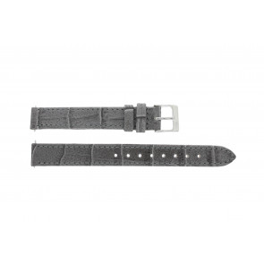 Lacoste Uhrenarmband 2000514 / LC-05-3-14-0167 Leder Grau 13mm + standardnähte