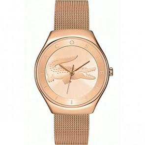 Lacoste Uhrenarmband 2000872 / LC-71-3-34-2538 Metall Rosé 18mm