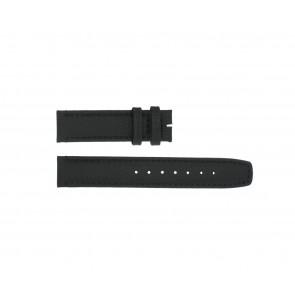 Boccia Uhrenarmband 3771-01 Leder Schwarz 20mm + standardnähte