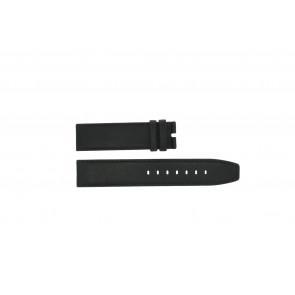 Boccia Uhrenarmband 3780-01 Leder Schwarz 20mm + standardnähte