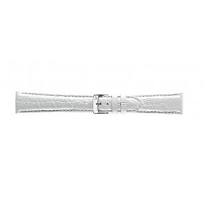 Morellato Uhrenarmband Amadeus G.Croc Glans U0518052017CR22 / PMU017AMADEC22 Krokodilhaut Weiss 22mm + standardnähte