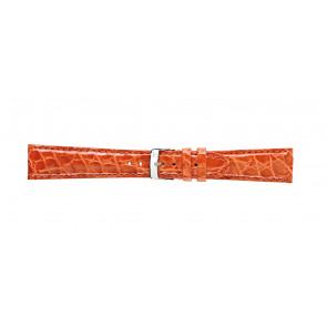 Morellato Uhrenarmband Amadeus G.Croc Glans U0518052086CR22 / PMU086AMADEC22 Krokodilhaut Orange 22mm + standardnähte