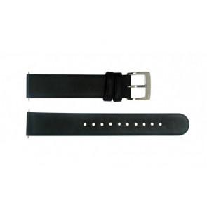 Uhrenarmband Mondaine BM20026 Leder Schwarz 16mm