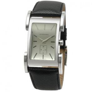 Uhrenarmband Burberry BU1100 Leder Schwarz