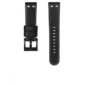 TW Steel Uhrenarmband CEB107 Leder Schwarz 22mm + weiße nähte
