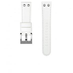 TW Steel Uhrenarmband CEB108 Leder Weiss 22mm + weiße nähte