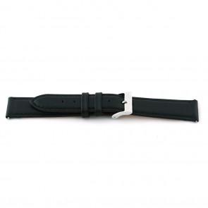 Uhrenarmband F012 XL Leder Schwarz 18mm + standardnähte