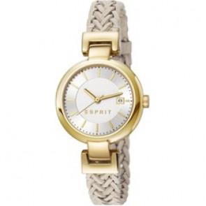 Esprit Uhrenarmband ES107632.009 Leder Beige 10mm