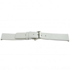 Uhrenarmband Leder weiß 16mm EX-E510