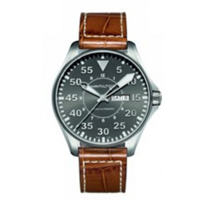 Uhrenarmband Hamilton H64715885 Leder Cognac 22mm