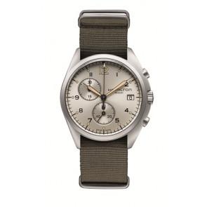Uhrenarmband Hamilton H76552955 Textil Taupe 22mm