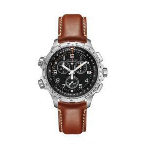 Uhrenarmband Hamilton H77912535 Leder Braun 22mm