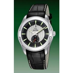 Jaguar Uhrenarmband J617-3-LED Leder Schwarz + weiße nähte