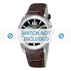 Jaguar Uhrenarmband J615-4 Kroko leder Braun 22mm + blauen nähte