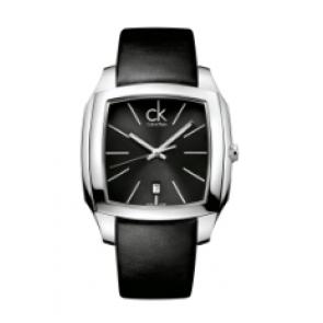 Calvin Klein Uhrenarmband K600.000.095 Leder Schwarz 20mm