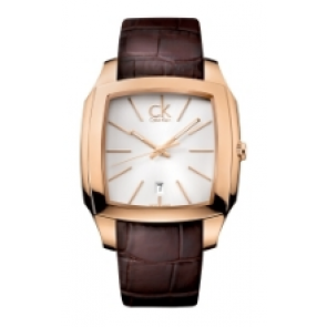 Calvin Klein Uhrenarmband K600.000.095 Leder Braun 20mm