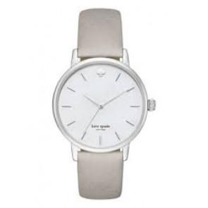 Kate Spade New York Uhrenarmband KSW1141 / METRO Leder Grau