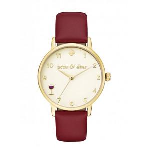 Kate Spade New York Uhrenarmband KSW1188 / METRO Leder Rot