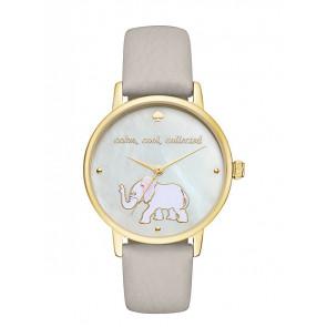 Kate Spade New York Uhrenarmband KSW1208 / METRO Leder Grau