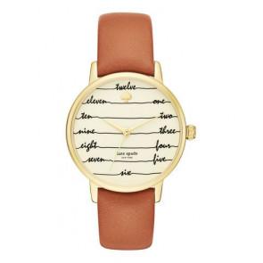 Kate Spade New York Uhrenarmband KSW1237 / METRO Leder Braun