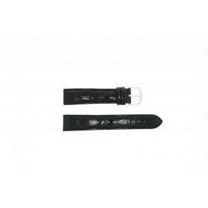 Lorus Uhrenarmband 19MM Leder Schwarz 19mm + schwarzen nähte