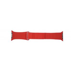 Apple (Ersatzmodell) Uhrenarmband LS-AB-110 Leder Rot 42mm