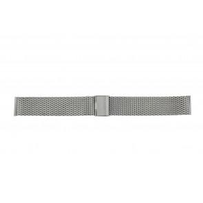Other brand Uhrenarmband MESH22 Metall Silber 22mm