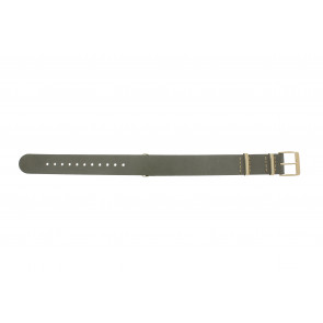 Timex Uhrenarmband PW2P98500 Leder Taupe 18mm + beige nähte