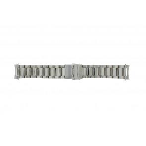 Uhrenarmband QQ22STROU Metall Silber 22mm
