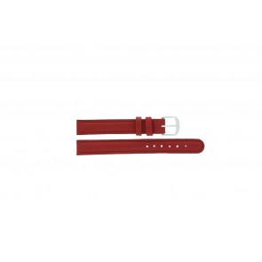 Q&Q Uhrenarmband QQ12LDRGS Leder Rot 12mm + roten nähte