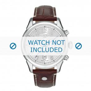 Roamer Uhrenarmband 540951-41-16-05 Leder Braun 22mm + weiße nähte