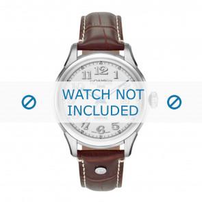 Roamer Uhrenarmband 545660-41-16-05 Leder Braun 18mm + weiße nähte