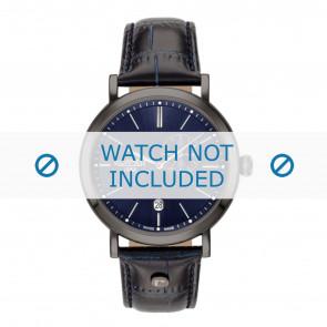 Roamer Uhrenarmband 936950-40-45-09 Leder Blau 22mm + standardnähte