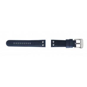 TW Steel Uhrenarmband TW400 Leder Blau 22mm