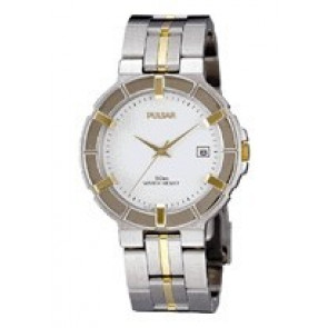 Pulsar Uhrenarmband V732-0330  Rostfreier Stahl Zweifarbig 8mm