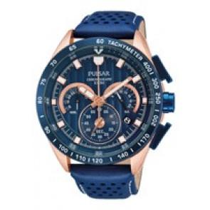 Uhrenarmband Pulsar VK63-X001-PU2082X1 Leder Blau