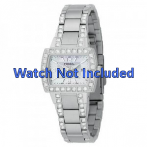 Fossil Uhrenarmband AM-4131 Stahl Silber 8mm